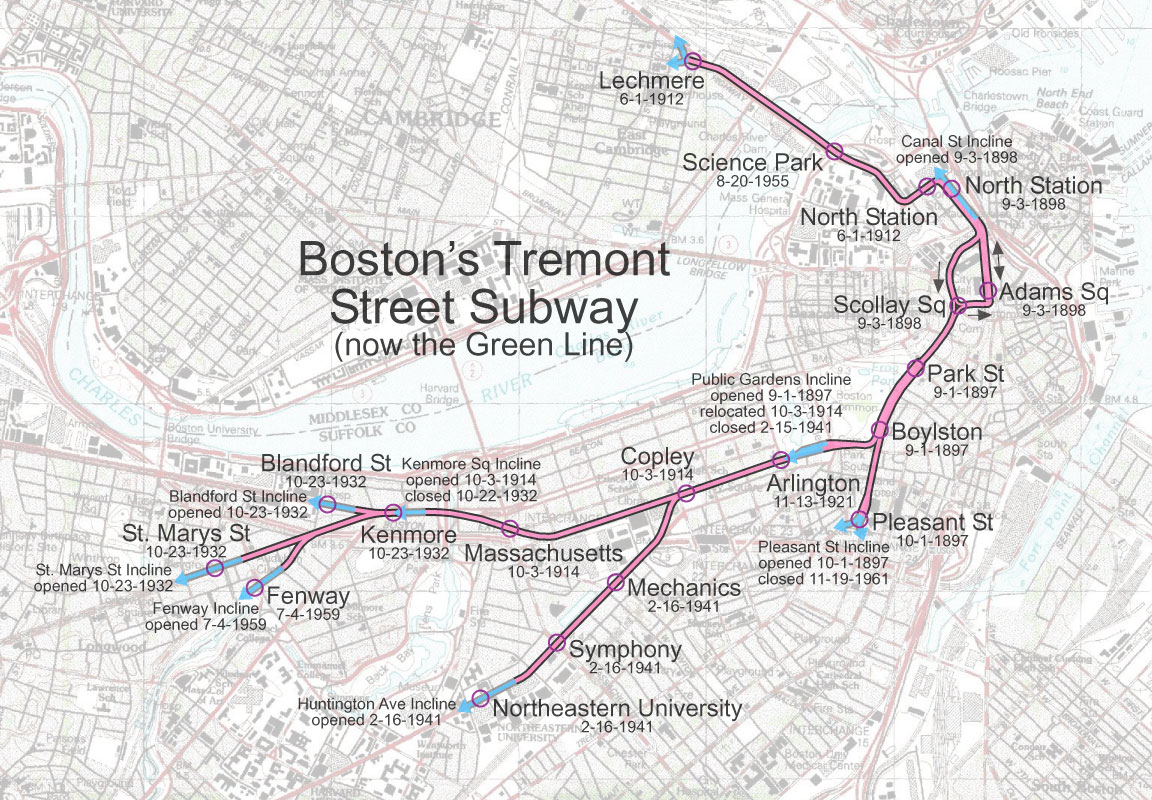 Mbta Subway Map Boston Ma.Daniel Walter Rowlands A Brief History Of The T